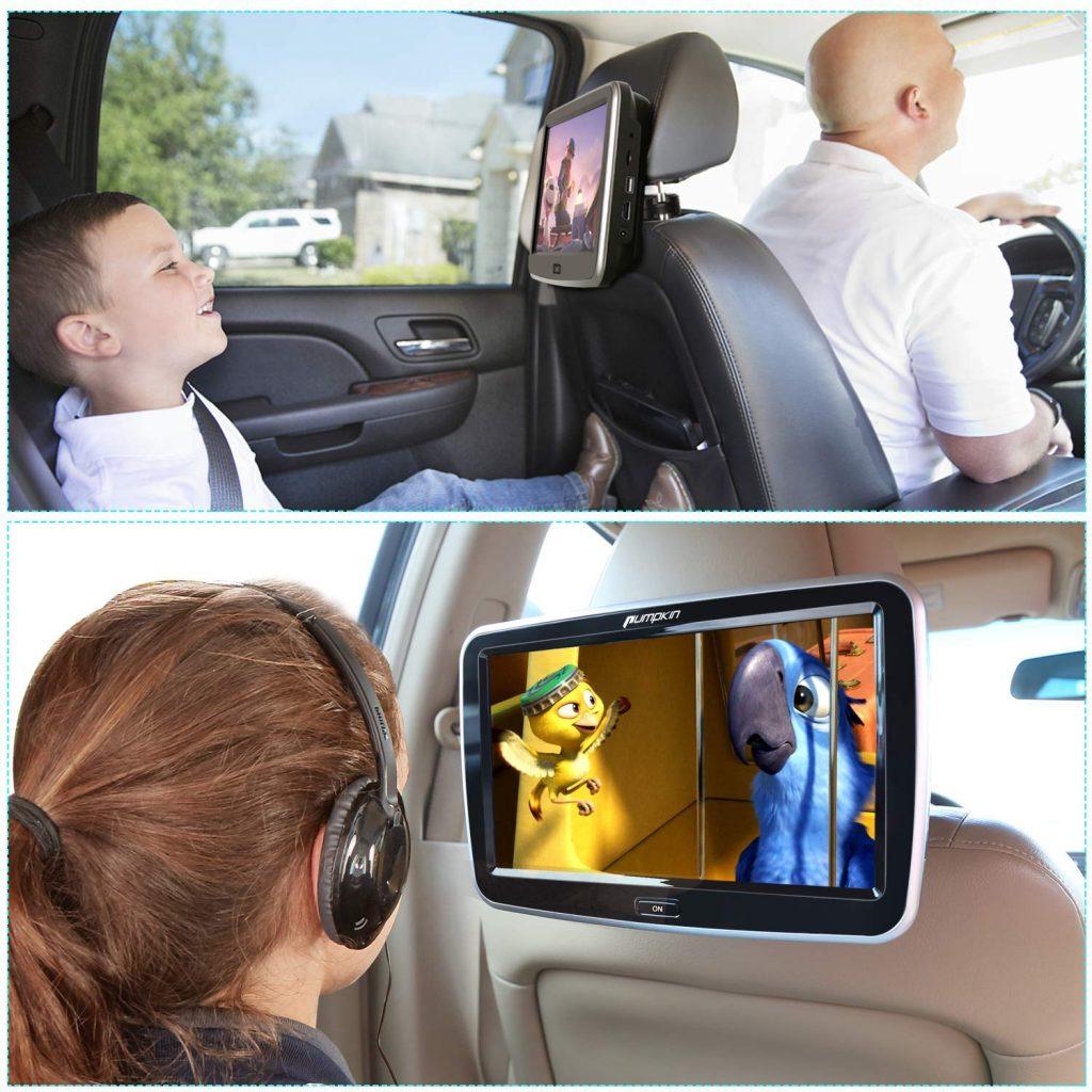 lecteur dvd voiture moyen de gamme Pumpkin